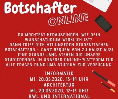 Online Angebote zur Studienorientierung an der Hochschule Bochum